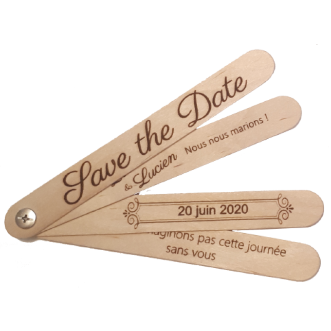'SAVE THE DATE' Éventail